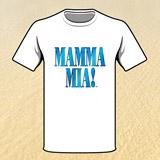 Triko pánské bílé MAMMA MIA! - vel. L