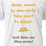 Tričko Žížala AŤ ŽIJÍ DUCHOVÉ! - dámské, vel. XL