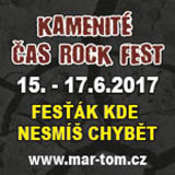 KAMENITÉ ČAS ROCK FEST 2017 - dvoudenní vstupenka