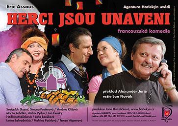 Činohra Herci jsou unaveni- Praha -Divadlo U Hasičů, Římská 45, Praha 2